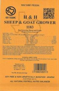 Sheep & Goat-Grower Feed Tag