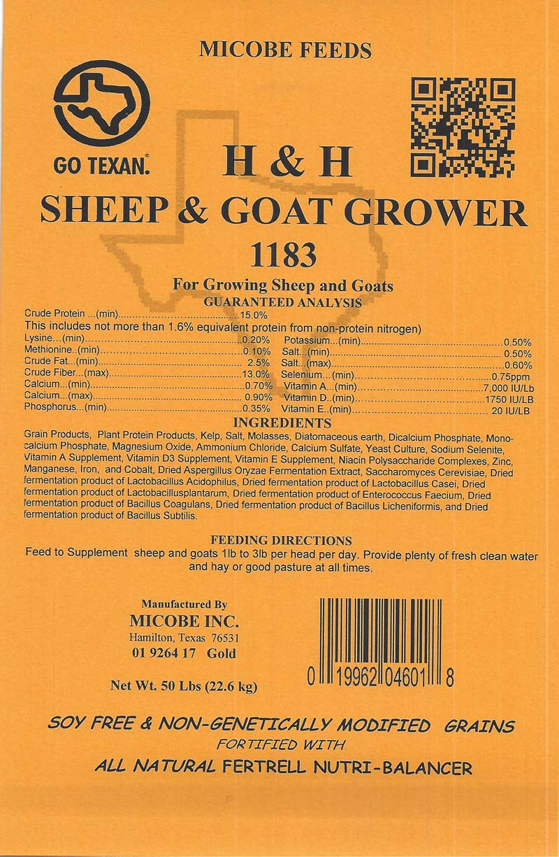 Dairy Goat for Lactating Goats Sheep & Goat-Grower Feed Tag
