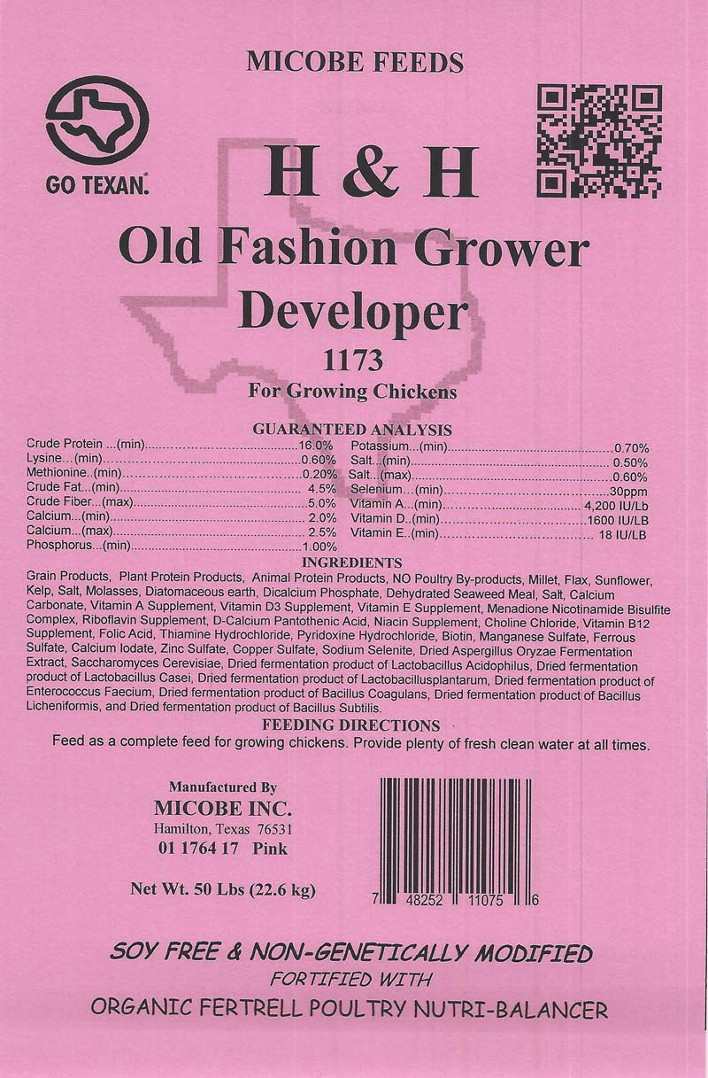 SALE!!  Chick Grower Developer 50 Pounds FREE SHIPPING!!